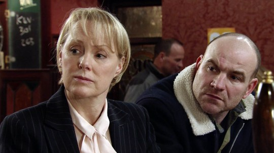 FROM ITV STRICT EMBARGO - No Use Before Tuesday 9 February 2016 Coronation Street - Ep 8843 Friday 19 February 2015 - 2nd Ep Having found Tim Metcalfe [JOE DUTTINE] sulking in the Rovers, Sally Metcalfe [SALLY DYNEVOR] assures him the reason she's bought him half the Street Cars business is because she realises his potential and believes in him. Will Tim soften? Smiling tightly, Norris Cole [MALCOLM HEBDEN] approaches Sally and drops a bombshell of his own! Picture contact: david.crook@itv.com on 0161 952 6214 Photographer - Joseph Scanlon This photograph is (C) ITV Plc and can only be reproduced for editorial purposes directly in connection with the programme or event mentioned above, or ITV plc. Once made available by ITV plc Picture Desk, this photograph can be reproduced once only up until the transmission [TX] date and no reproduction fee will be charged. Any subsequent usage may incur a fee. This photograph must not be manipulated [excluding basic cropping] in a manner which alters the visual appearance of the person photographed deemed detrimental or inappropriate by ITV plc Picture Desk. This photograph must not be syndicated to any other company, publication or website, or permanently archived, without the express written permission of ITV Plc Picture Desk. Full Terms and conditions are available on the website www.itvpictur