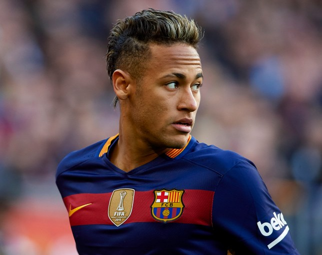 BARCELONA, SPAIN - JANUARY 30: Neymar JR of Barcelona looks on during the La Liga match between FC Barcelona and Atletico de Madrid at Camp Nou on January 30, 2016 in Barcelona, Spain. (Photo by Manuel Queimadelos Alonso/Getty Images)