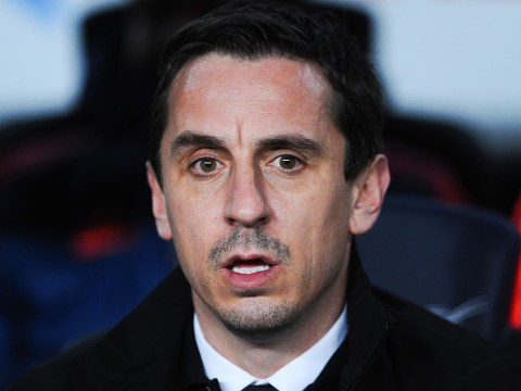 Fans welcome Gary Neville back to Monday Night Football after Barcelona thrash Valencia 7-0