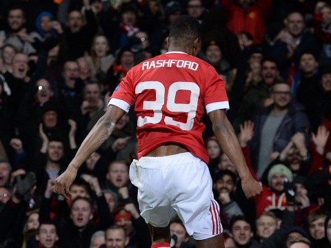 Manchester United starlet Marcus Rashford's Old Trafford celebration explained
