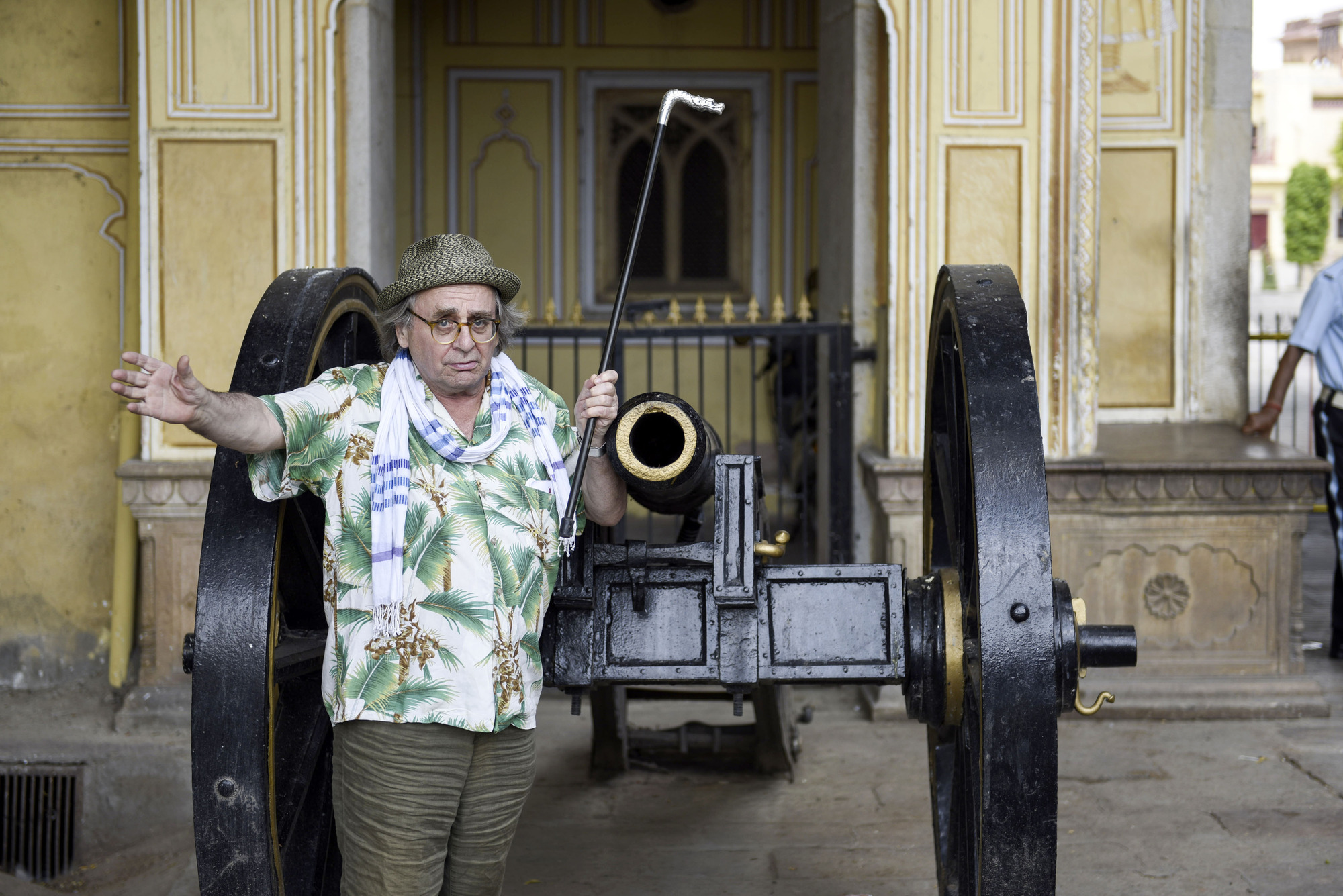 Programme Name: The Real Marigold Hotel - TX: n/a - Episode: The Real Marigold Hotel (No. n/a) - Picture Shows: City Palace Sylvester McCoy - (C) Vinod Singh/Twofour - Photographer: Vinod Singh