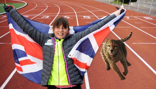 Davina reckons she beat a cheetah in a race. Credit: Getty Images/Metro