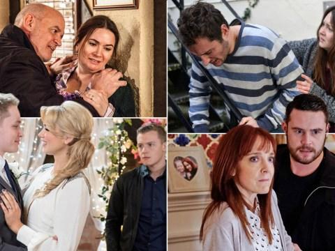 12 soap spoiler pictures: EastEnders sex disease, Corrie attacks, Hollyoaks wedding, Emmerdale showdown