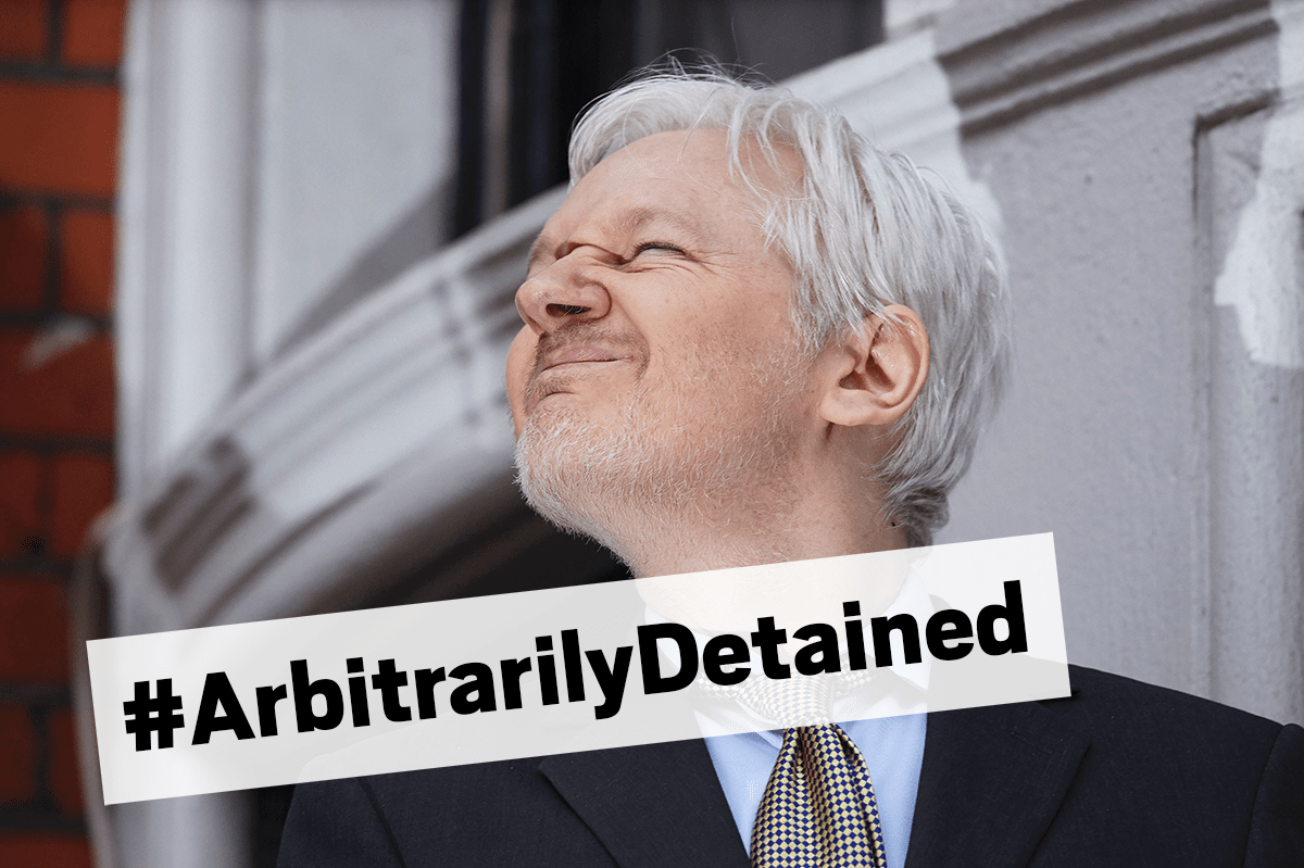 The UN reckons Assange has been 'arbitrarily detained' (Picture: AFP/Getty Images)