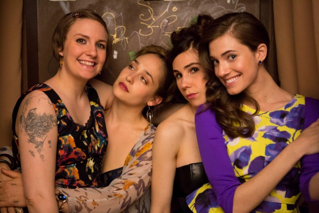 "Television Programme: Girls with Lena Dunham as Hannah Horvath, Jemima Kirke as Jessa Johansson, Zosia Mamet as Shoshanna Shapiro and Allison Willliams as Marnie Michaels. Girls- Series 03.Episode 03 ""She Said OK"".. Copyright Home Box Office Inc 2013."