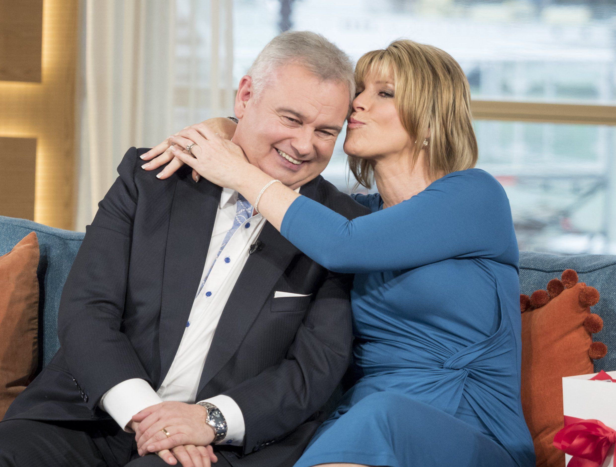 EDITORIAL USE ONLY. NO MERCHANDISING Mandatory Credit: Photo by Ken McKay/ITV/REX/Shutterstock (5577585bs) Eamonn Holmes and Ruth Langsford 'This Morning' TV show, London, Britain - 29 Jan 2016