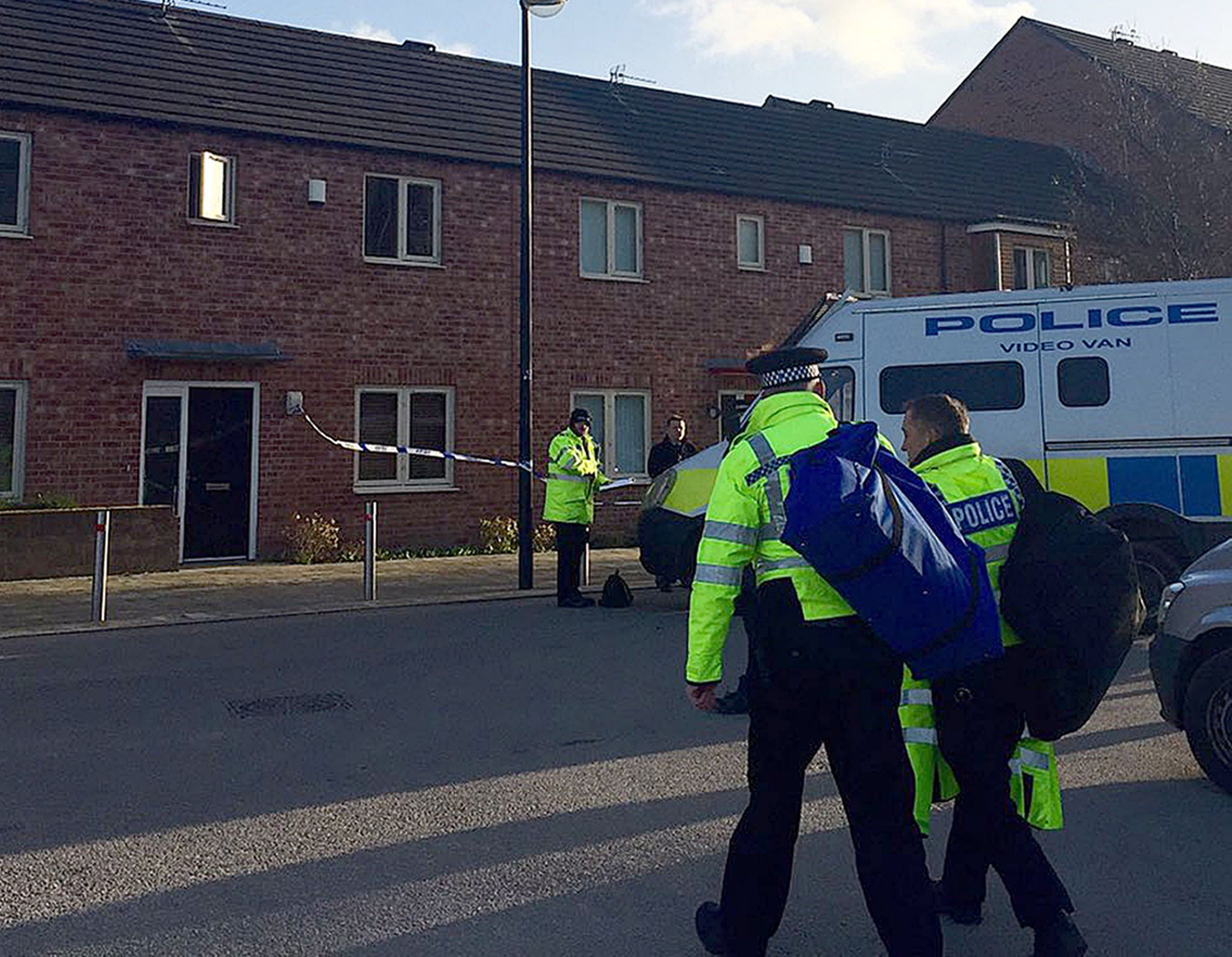 BEST QUALITY AVAILABLE Police at the scene in Beeston Way, Allerton Bywater near Leeds, after three people, reported to be a woman and two children, have been found dead in a house. PRESS ASSOCIATION Photo. Picture date: Tuesday February 2, 2016. West Yorkshire Police officers were called to the address at 11:49am after concerns were raised for the occupants. See PA story POLICE Allerton. Photo credit should read: Amy Murphy/PA Wire