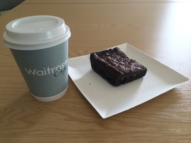 One of the paper cups and plates which are now being used in the Waitrose cafe, Chichester. See SWNS story SWPLATES; Customers at a Waitrose are causing a storm in a tea cup after its cafe swapped china for PAPER plates and cups. Dubbed 'the most middle class row ever' regulars are threatening a boycott after the posh supermarket's restaurant started serving food and drinks on disposable crockery. Angry regulars in Chichester complained after the store stopped using traditional china for tea and cakes - instead opting for plastic and paper. To make matters worse irked customers are now forced to sit in wooden chairs instead of sofas in the cafÈ's new layout.