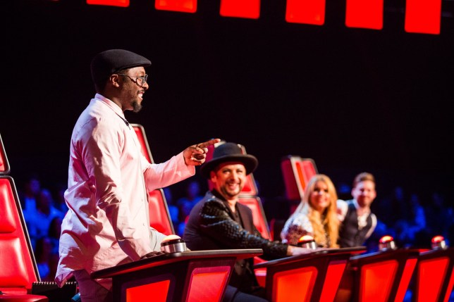 WARNING: Embargoed for publication until 00:00:01 on 09/02/2016 - Programme Name: The Voice - TX: 13/02/2016 - Episode: 6 (No. 6) - Picture Shows: THE VOICE - EPISODE 6 (WEEK 7) Will.i.am, Boy George, Paloma Faith, Ricky Wilson - (C) WALL TO WALL - Photographer: Guy Levy