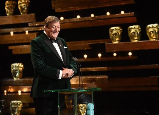 Mandatory Credit: Photo by Jonathan Hordle/REX/Shutterstock (5586123f) Stephen Fry EE BAFTA British Academy Film Awards, Show, Royal Opera House, London, Britain - 14 Feb 2016