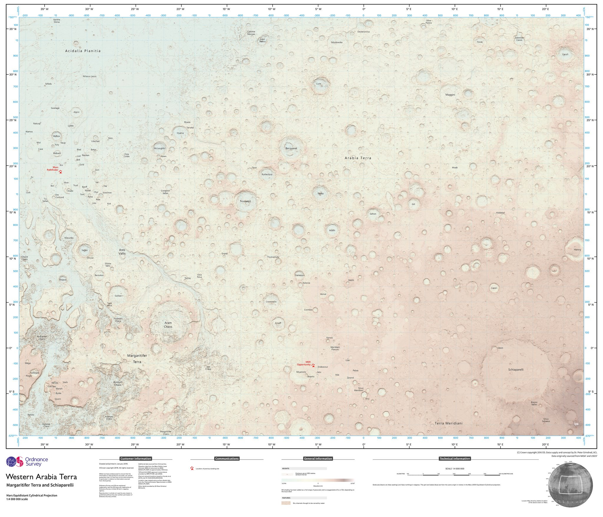 Ordnance Survey makes a map of Mars and it's pretty cool Taken from: https://www.flickr.com/photos/osmapping/with/25012985956/