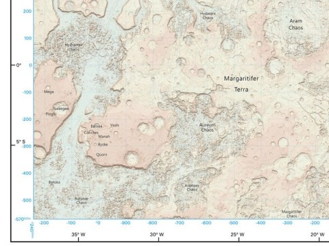 This incredible map of Mars really is out of this world