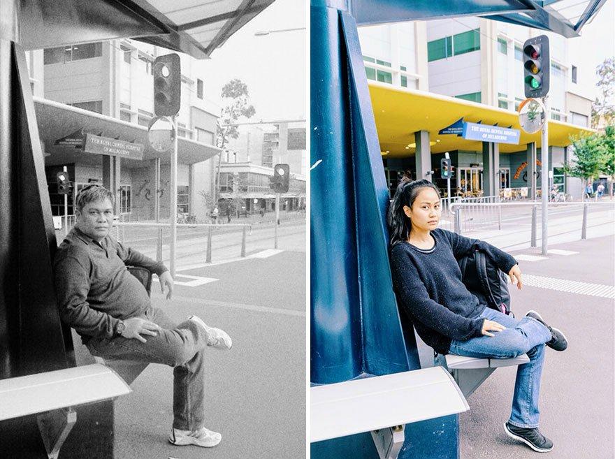 Woman recreates her late dad's photos Credit: Sarah Chrisya