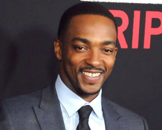 LOS ANGELES, CA - FEBRUARY 16: Actor Anthony Mackie attends the Premiere of Open Road's 'Triple 9' at Regal Cinemas L.A. Live on February 16, 2016 in Los Angeles, California. (Photo by Barry King/Getty Images)
