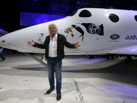 Take a look at Richard Branson's new space rocket (that's not a euphemism)