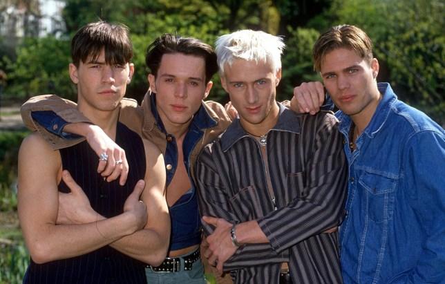 Mandatory Credit: Photo by REX/Shutterstock (522005xf) Bad Boys Inc - David Ross, Mathew Pateman, Tony Dowding and Ally Begg - 1994 VARIOUS