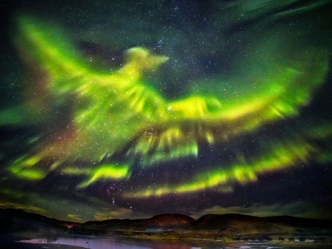 Incredible picture shows Northern Lights take the form of a phoenix