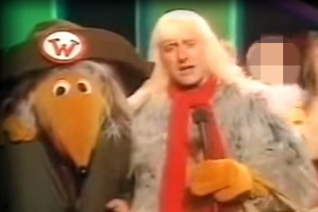 Legal before use, copyright unknown. Jimmy Savile dressed as a Womble