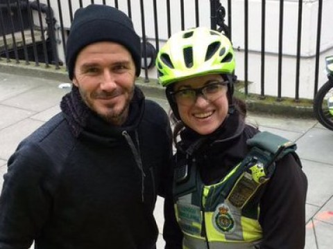 David Beckham buys cup of tea for paramedic and injured pensioner