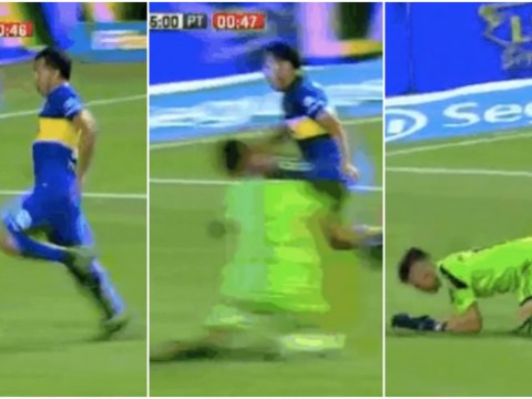 Carlos Tevez breaks goalkeeper's jaw in sickening collision
