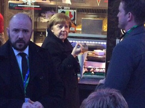 Angela Merkel just wanted some chips