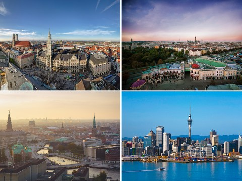 Here are the top ten cities in the world to live