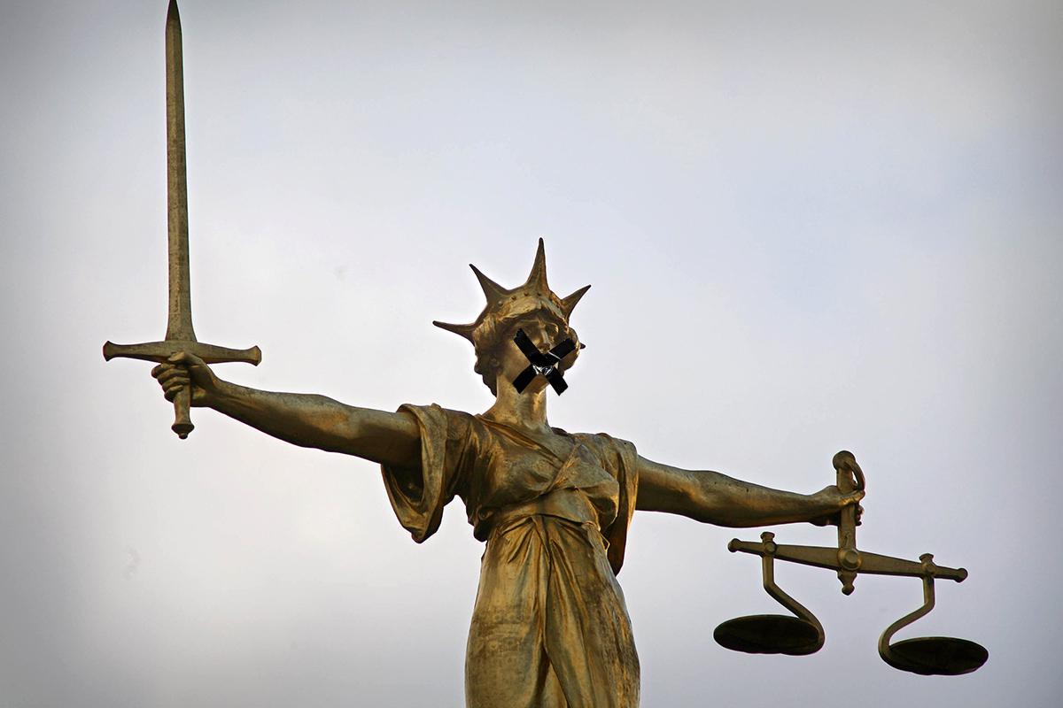 We still can't tell you about a terror trial that's in the courts at the moment