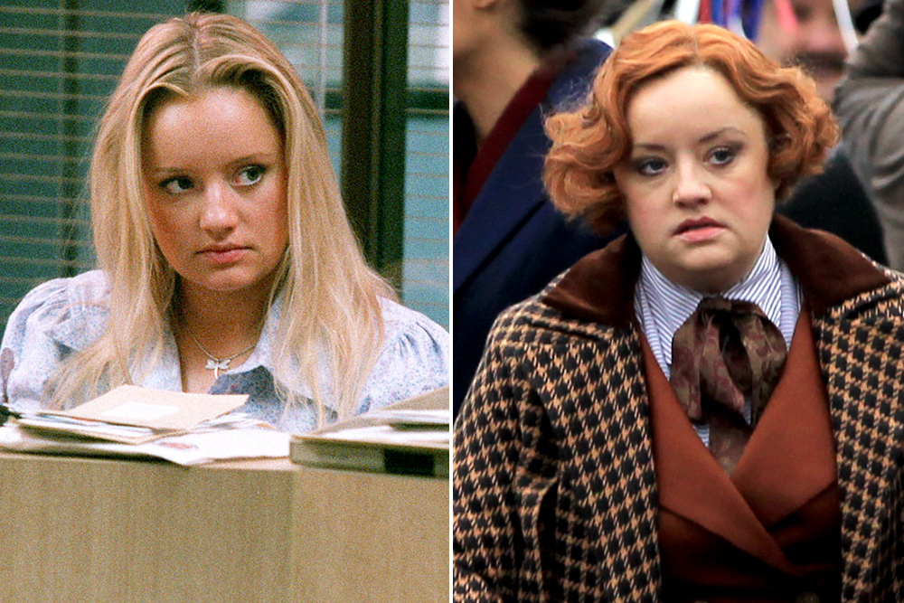 The Office star Lucy Davis is unrecognisable on the London set of Wonder Woman