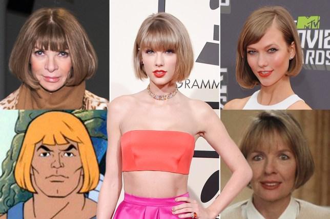 Taylor Swift Grammys Hair Getty