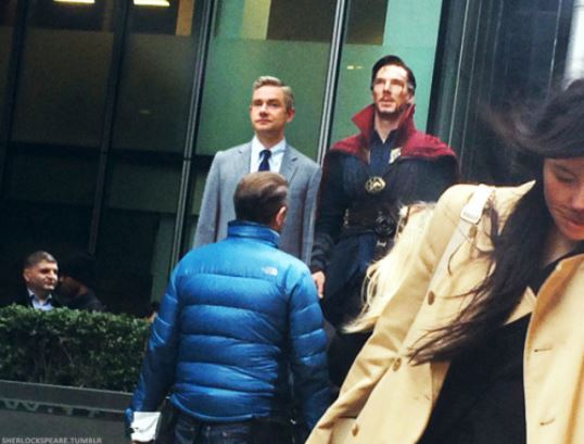 Benedict Cumberbatch has been filming Doctor Strange on the streets of London