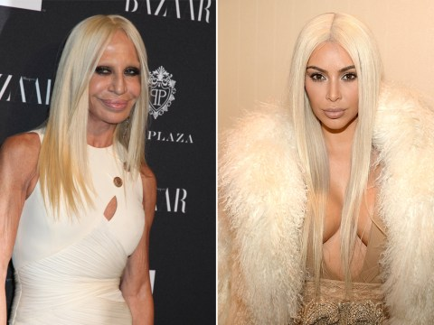 Kim Kardashian and Donatella Versace: Separated at birth?