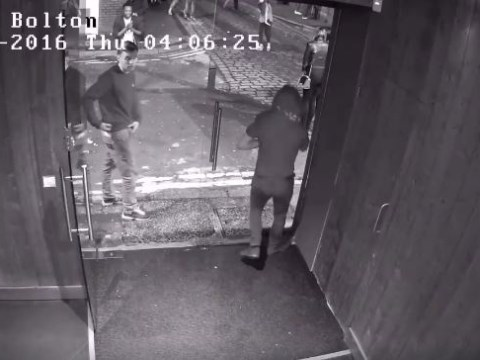 Man walks into glass door trying to leave nightclub
