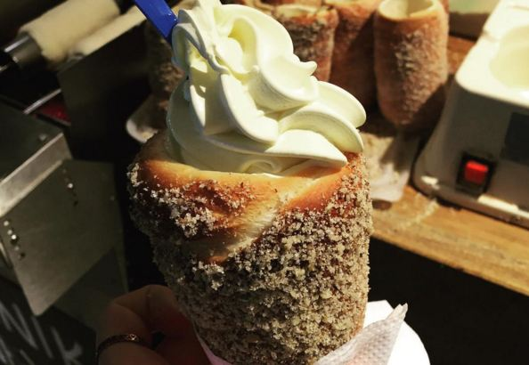 These doughnut style ice cream cones are the stuff of dreams