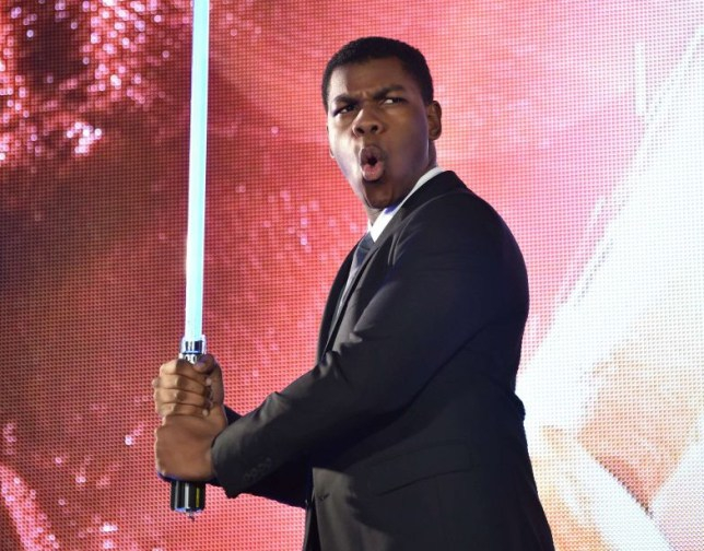 Actor John Boyega poses during a promotional event for the upcoming Star Wars film in Tokyo on December 10, 2015. Star Wars: The Force Awakens premieres in Japan on December 18. AFP PHOTO / KAZUHIRO NOGIKAZUHIRO NOGI/AFP/Getty Images