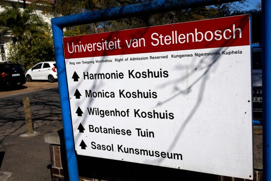 The University of Stellenbosch campus, South Africa (Picture: Alamy) Alamy