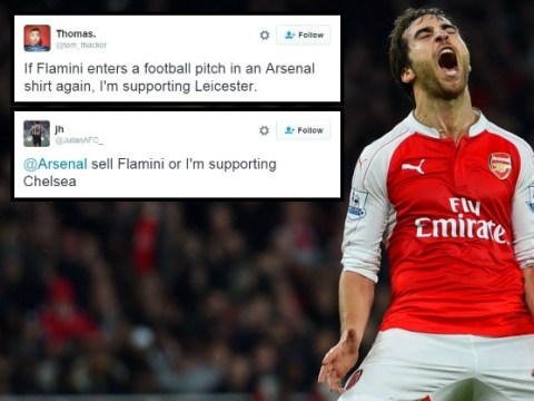 Arsenal fans vow to stop supporting the club unless Mathieu Flamini is sold