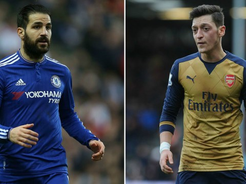 Chelsea fans say Cesc Fabregas is better at assisting than Arsenal's Mesut Ozil