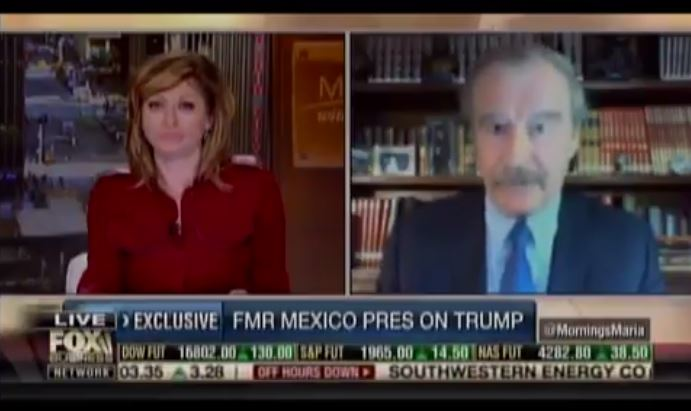 'I'm not going to pay for that f*cking wall': Mexican ex-president has strong words for Donald Trump