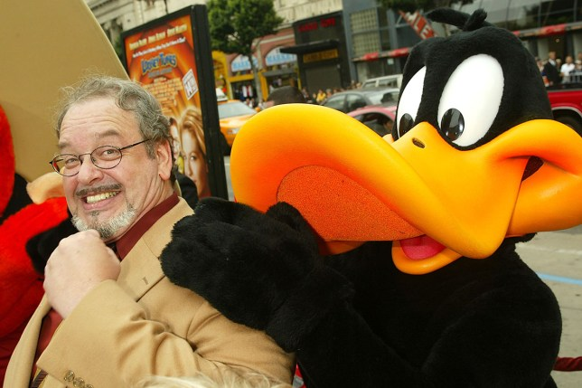 """LOS ANGELES - NOVEMBER 9: Cartoon voice actor Joe Alaskey arrives at the premiere of """"Looney Tunes: Back in Action"""" at the Chinese Theater on November 9, 2003 in Los Angeles, California. (Photo by Kevin Winter/Getty Images)"""