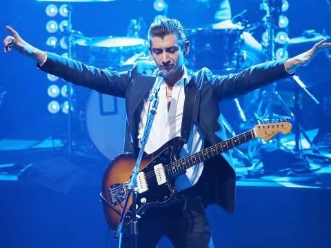 Alex Turner's fans think he needs a hug after unusual stage dance
