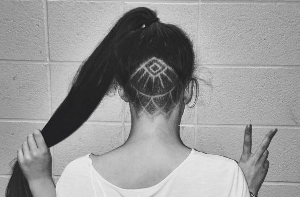 hidden hair tattoo undercut trend