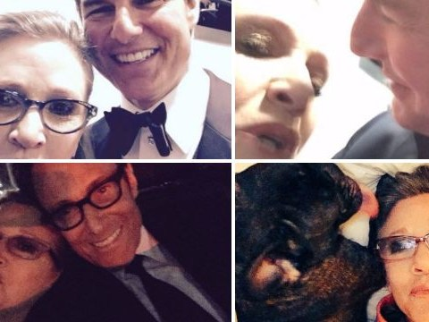 Tom Cruise selfies and frisky photos with Domhnall Gleeson: Carrie Fisher had the time of her life at the BAFTAs