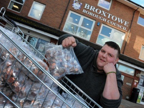 Angry man pays £1,800 council tax bill… all in PENNIES