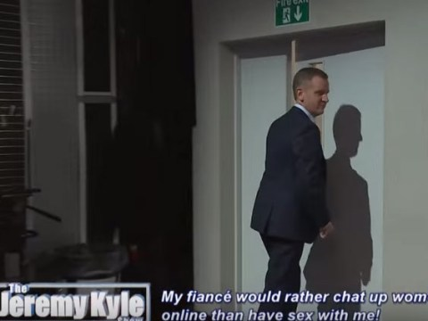 Here's the moment that one of Jeremy Kyle's guests led HIM to storm off the stage