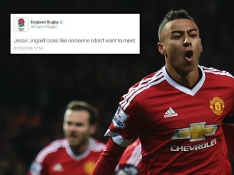 Manchester United's Jesse Lingard trolled by England Rugby on Twitter after goal at Chelsea
