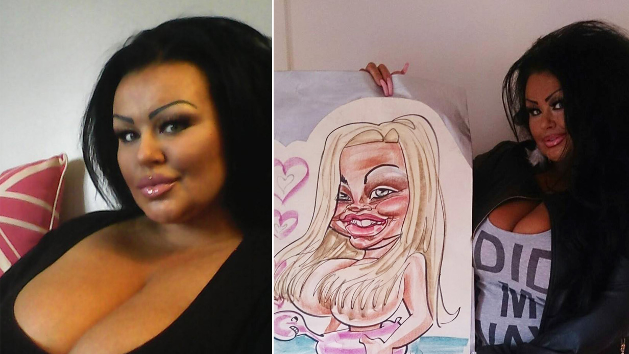 This woman spent £130,000 on plastic surgery to look just like her caricature