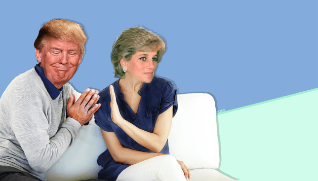Deluded Donald Trump said he could have had sex with Princess Diana Picture: REX Features/PA/GettyImages - Credit: MylesGoode