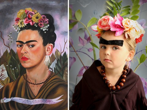 Mum recreates famous paintings using her children and friends