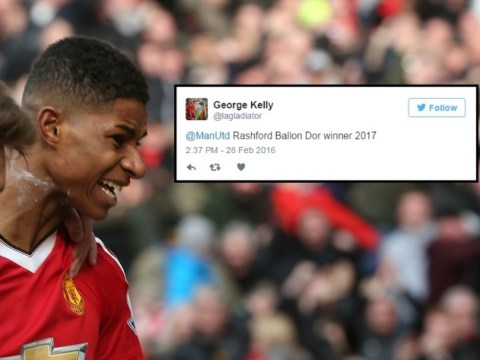 Manchester United fans call for Marcus Rashford to win Ballon d'Or after Arsenal goals