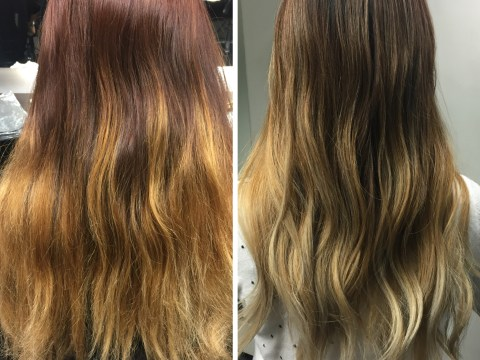 Reverse balayage makes it look like your overgrown peroxide is on purpose
